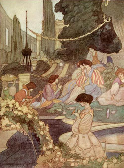 Illustration by Charles Robinson from The Happy Prince