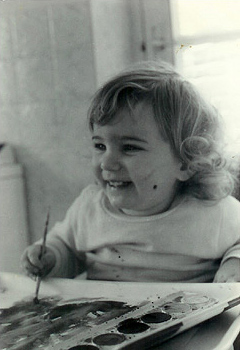 Me painting, age 2