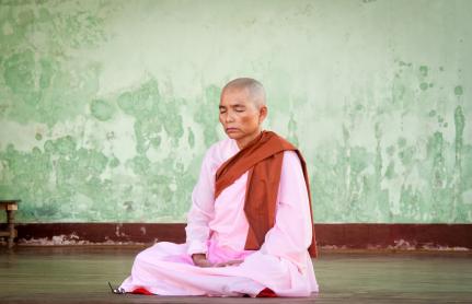Budhhist Nun Yangon Myanmar