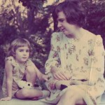 Age 5: With my mother in California.