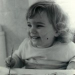 Age 2: Making a happy mess of colour.